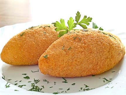 Котлета по киевски, рецепт приготовить вкусно