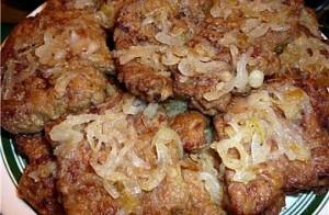 Жареная печень с луком