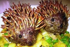 Мясные ёжики с капустой