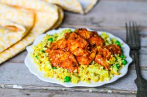 Курица тикка масала с рисом