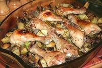 Куриные ножки с грибами