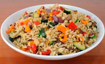 Как приготовить рис с овощами