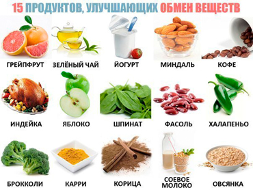 Продукты повышающие метаболизм
