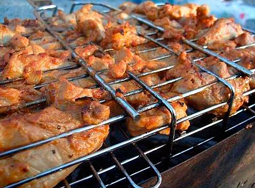 Шашлык из курицы на решётке